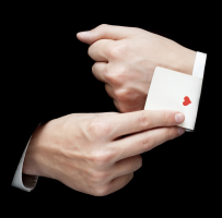 magician image ace of hearts