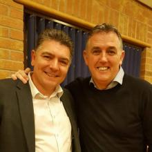 Lancashire Magician Darren Brand and Owen Coyle.