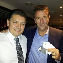 North West Magician Darren Magician with footballer Matt Le Tissier