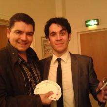 North West Magician Darren Brand with TV magician Pete Firman